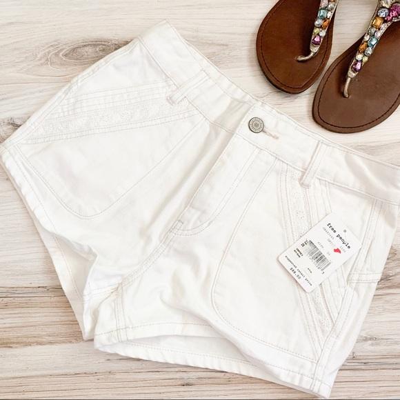 Free People Pants - Free People Sweet Surrender Shorts in White